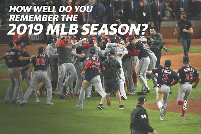How well do you remember the 2019 MLB season? Take the quiz. (Getty Images)