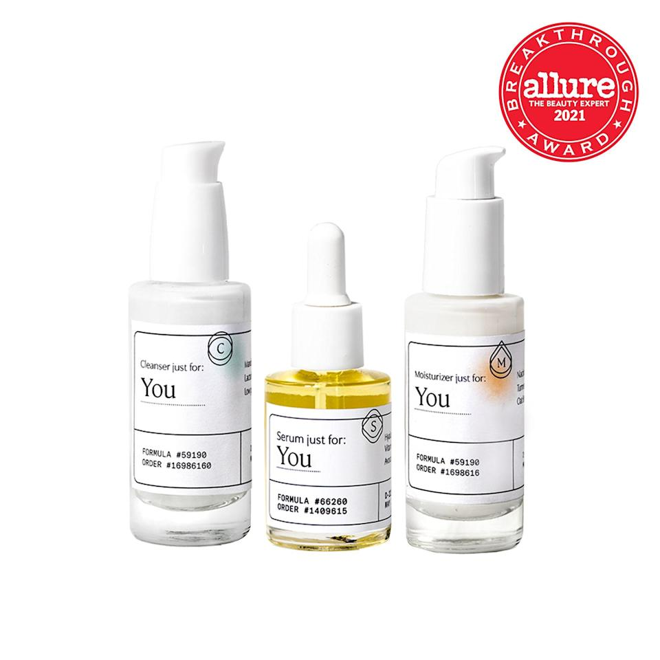 """<p>Remember those choose-your-own- adventure books? Well, imagine if one grew up, went off to engineering school, and became a choose-your-own adventure skin-care series. It would look a lot like <a href=""""https://www.allure.com/story/atolla-skin-care-customized-face-serum-review?mbid=synd_yahoo_rss"""" rel=""""nofollow noopener"""" target=""""_blank"""" data-ylk=""""slk:Atolla"""" class=""""link rapid-noclick-resp"""">Atolla</a>: Take a quiz with more than 50 possible paths — which you are led down depending on how you answer each question — and you'll receive a customized routine (cleanser, serum, moisturizer). If you're prone to breakouts, you will go down one track. If you're pregnant, another. And so on.</p> <p>Each question is designed to gather a battery of information — enter your zip code and Atolla pulls info on the water quality, pollution, humidity, and wind and sun exposure you face daily. """"The online questionnaire goes above and beyond what other customized services ask,"""" says Heather Woolery-Lloyd, a board-certified dermatologist in Miami. """"The questions are clinically relevant and well thought out."""" Atolla's algorithm maps your answers onto more than two million data points to choose your best mix of 64 possible ingredients (there were three actives in every formula I received). </p> <p>The sheer number of data points allows the model to be predictive of which ingredient combinations are most helpful for your skin, says cofounder Meghan Maupin, an engineer who started the line after graduating from MIT with an unhappy complexion. As more people take the quiz, the data points shift: """"The power of machine learning is clustering different types of data,"""" Maupin says. """"Patterns [emerge] so our predictive models continue to get more refined and more granular.""""</p> <p>Your routine is shipped to you along with four paper strips for measuring your skin's pH, oil, and moisture levels. After finishing each month's routine, you place the strips onto your cheeks and T-zone, and they change"""