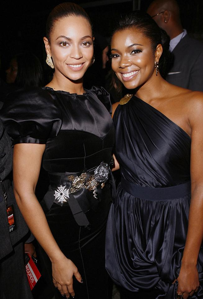 "<a href=""http://movies.yahoo.com/movie/contributor/1804705859"">Beyonce Knowles</a> and <a href=""http://movies.yahoo.com/movie/contributor/1800018551"">Gabrielle Union</a> at the Los Angeles premiere of <a href=""http://movies.yahoo.com/movie/1810003875/info"">Cadillac Records</a> - 11/24/2008"
