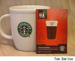 Starbucks instant Via brand going into grocery stores