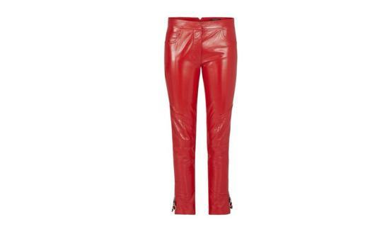 """<p>Patent lambskin pants in red, price upon request,<a href=""""http://us.louisvuitton.com/eng-us/stories/rtw-women-aw16-looks#/look01/1A23OH"""" rel=""""nofollow noopener"""" target=""""_blank"""" data-ylk=""""slk:louisvuitton.com"""" class=""""link rapid-noclick-resp""""> louisvuitton.com</a></p>"""