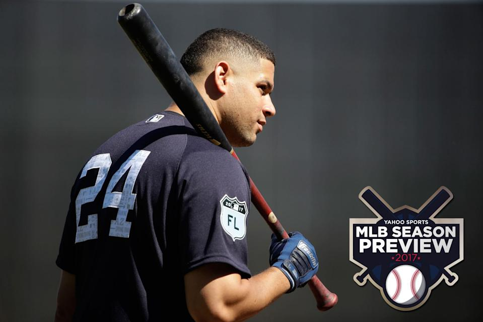 Yankees catcher Gary Sanchez is among the youngsters with high expectations. (AP)