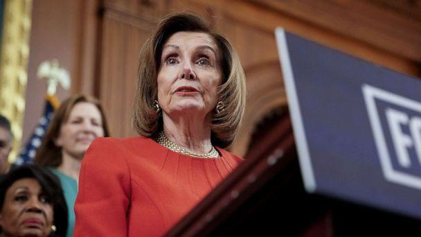 PHOTO: Speaker of the House Nancy Pelosi speaks during a news conference at the Capitol in Washington, D.C., Dec. 19, 2019. (Erin Scott/Reuters, FILE)