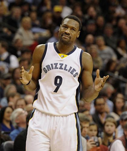 Tony Allen isn't quite sure what to tell you, man. (Justin Ford-USA TODAY Sports)