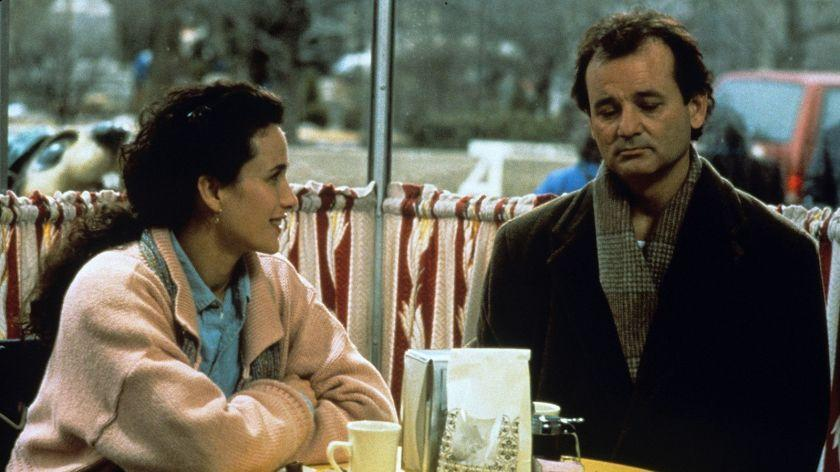 Andie MacDowell and Bill Murray in 'Groundhog Day'
