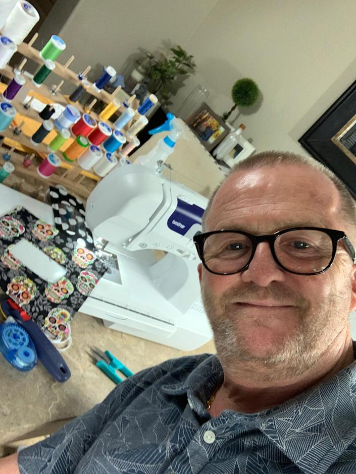 This spring, Brian Travers learned how to sew for the first time. He soon transformed his new skills into a way to help people who are deaf and hard of hearing. (Courtesy Brian Travers)