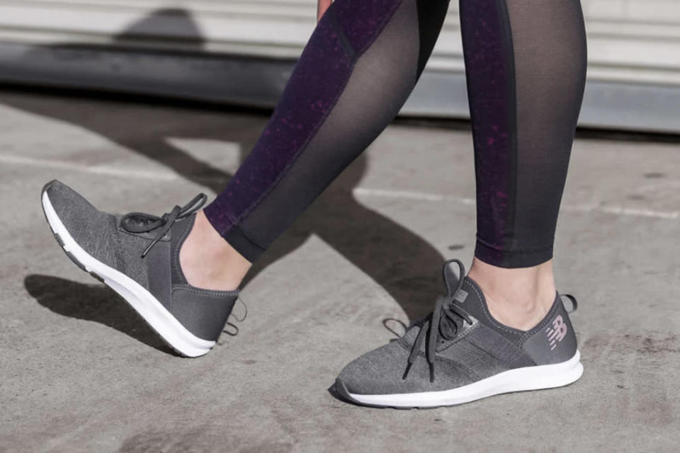 These sneakers were made for strutting. (Photo: New Balance)