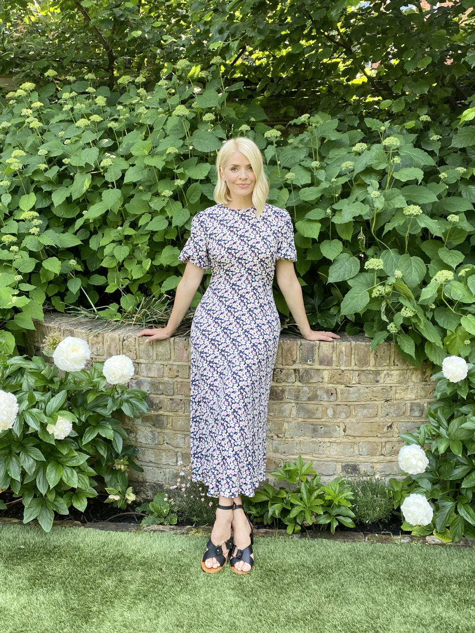 Snap up Holly's dress before it sells out again (Marks & Spencer)
