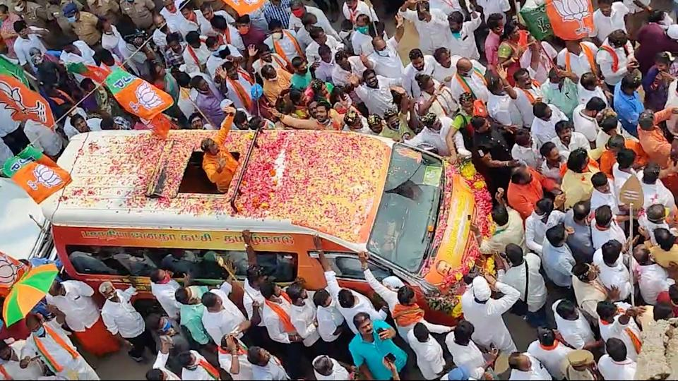 The yatra is intended to resume from Vadivudai Amman temple in Tiruvottriyur, Chennai.
