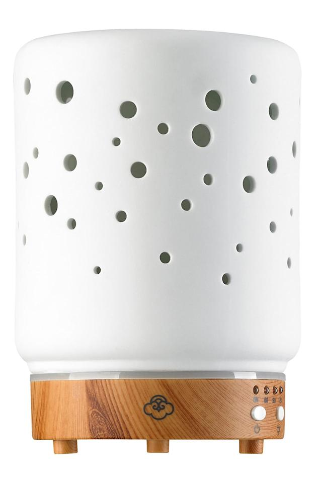 """<p>Bring some calm to your life with this <a href=""""https://www.popsugar.com/buy/Serene-House-Starlight-Electric-Aromatherapy-Diffuser-560381?p_name=Serene%20House%20Starlight%20Electric%20Aromatherapy%20Diffuser&retailer=shop.nordstrom.com&pid=560381&price=50&evar1=fit%3Aus&evar9=45549321&evar98=https%3A%2F%2Fwww.popsugar.com%2Ffitness%2Fphoto-gallery%2F45549321%2Fimage%2F47342322%2FSerene-House-Starlight-Electric-Aromatherapy-Diffuser&list1=shopping%2Cgifts%2Chealthy%20living%20tips&prop13=api&pdata=1"""" rel=""""nofollow"""" data-shoppable-link=""""1"""" target=""""_blank"""" class=""""ga-track"""" data-ga-category=""""Related"""" data-ga-label=""""https://shop.nordstrom.com/s/serene-house-starlight-electric-aromatherapy-diffuser/4621823/full?origin=keywordsearch-personalizedsort&amp;breadcrumb=Home%2FAll%20Results&amp;color=white"""" data-ga-action=""""In-Line Links"""">Serene House Starlight Electric Aromatherapy Diffuser</a> ($50).</p>"""