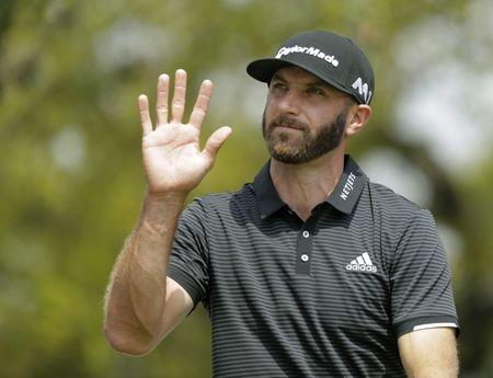 Mar 24, 2017; Austin, TX, USA; Dustin Johnson of the United States plays against Jimmy Walker of the United States during the third round of the World Golf Classic - Dell Match Play golf tournament at Austin Country Club. Erich Schlegel-USA TODAY Sports