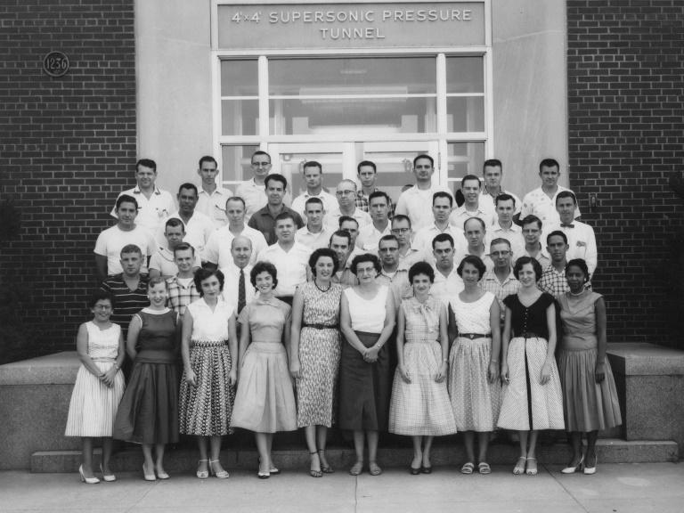 NASA has renamed its Washington headquarters for trailblazing black mathematician and engineer Mary Jackson (first row, far right) -- seen here in an undated photo from the US space agency