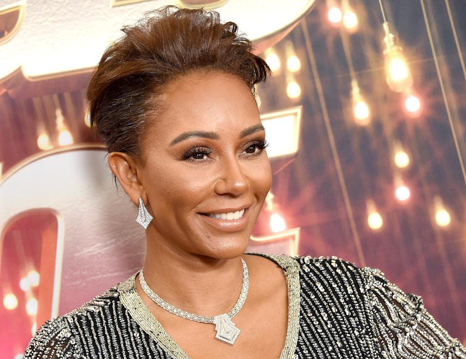 """PASADENA, CA - OCTOBER 17:  Mel B arrives at """"America's Got Talent: The Champions"""" Finale at Pasadena Civic Auditorium on October 17, 2018 in Pasadena, California.  (Photo by Gregg DeGuire/Getty Images)"""