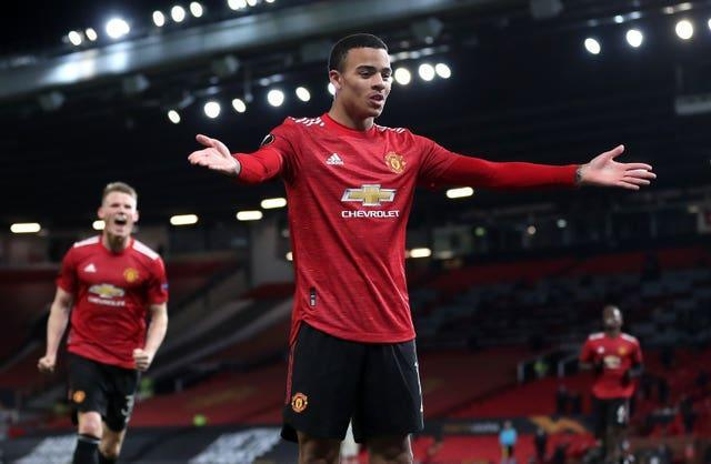 Mason Greenwood wrapped up United's 6-2 semi-first leg win against Roma
