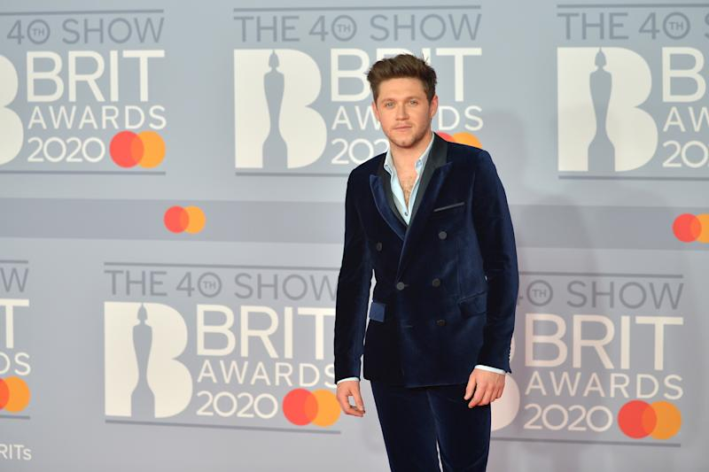 LONDON, ENGLAND - FEBRUARY 18: (EDITORIAL USE ONLY) Niall Horan attends The BRIT Awards 2020 at The O2 Arena on February 18, 2020 in London, England. (Photo by Jim Dyson/Redferns)