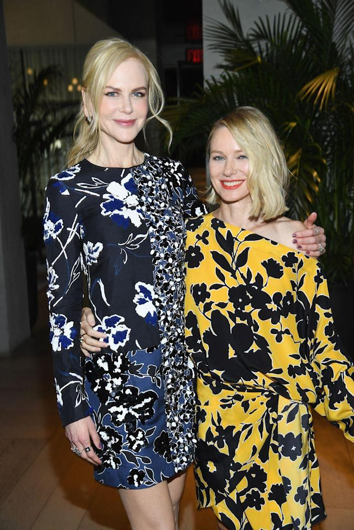 """<p>Aussie starlets Nicole Kidman and Naomi Watts have a friendship that goes all the way back to when they were just teenagers attending North Sydney Girls' High School in Australia. Post-school, the actresses bonded on the set of <em>Flirting</em>, with the 1991 film forging the close relationship that they have today.</p><p>""""We've gone through a lot together over a significant amount of time. That history binds you,"""" Watts told <em><a href=""""https://people.com/movies/naomi-watts-talks-friendship-with-nicole-kidman/"""" rel=""""nofollow noopener"""" target=""""_blank"""" data-ylk=""""slk:People"""" class=""""link rapid-noclick-resp"""">People</a></em> about her ties with Kidman. """"We have a strong respect and love for one another.""""</p>"""