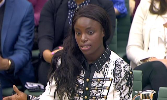 Eni Aluko talking to the DCMS on Wednesday afternoon