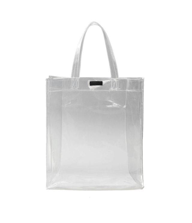 "<p><span>Vinyl Shopper Bag, $40,</span><a href=""https://shop.mango.com/us/women/bags-shoppers/vinyl-shopper-bag_23043674.html?c=01&n=1&s=accesorios.accesorio%3B40%2C340%2C440&utm_source=5699550&utm_medium=affiliate&utm_campaign=CJ"" rel=""nofollow noopener"" target=""_blank"" data-ylk=""slk:mango.com"" class=""link rapid-noclick-resp""> <span>mango.com</span></a> </p>"