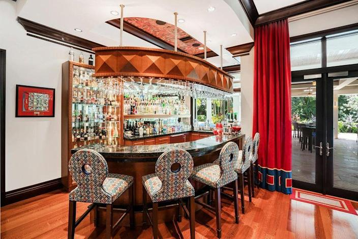 A sci-fi-inspired bar area inside Marc Bell's Boca Raton home.