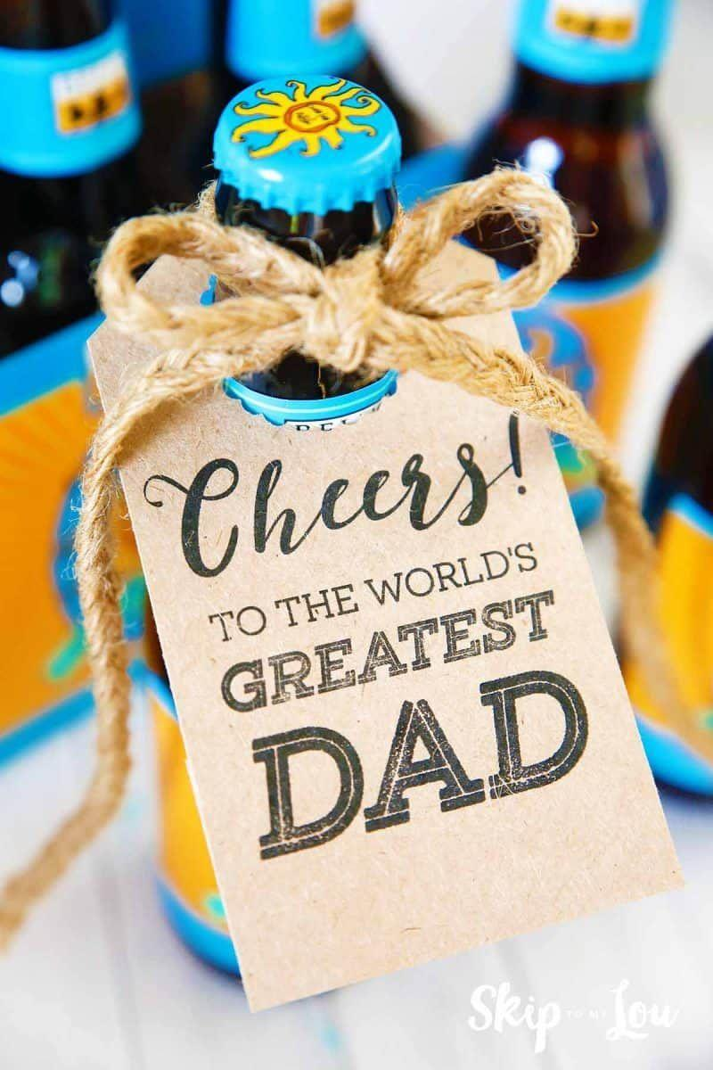 """<p>Build a six pack of his favorite craft beers and print off these cute tags for a personalized touch.</p><p><strong>Get the tutorial at <a href=""""https://www.skiptomylou.org/fathers-day-printable/"""" rel=""""nofollow noopener"""" target=""""_blank"""" data-ylk=""""slk:Skip to My Lou"""" class=""""link rapid-noclick-resp"""">Skip to My Lou</a>. </strong></p><p><strong><a class=""""link rapid-noclick-resp"""" href=""""https://www.amazon.com/Kraft-Cardstock-Stationery-Printable-Invitations/dp/B07F36XPX8/?tag=syn-yahoo-20&ascsubtag=%5Bartid%7C10050.g.1171%5Bsrc%7Cyahoo-us"""" rel=""""nofollow noopener"""" target=""""_blank"""" data-ylk=""""slk:SHOP CARD STOCK"""">SHOP CARD STOCK</a><br></strong></p>"""
