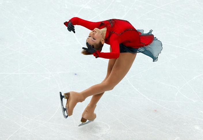 Russia's Julia Lipnitskaia performs in the Women's Figure Skating Free Program at the Iceberg Skating Palace.
