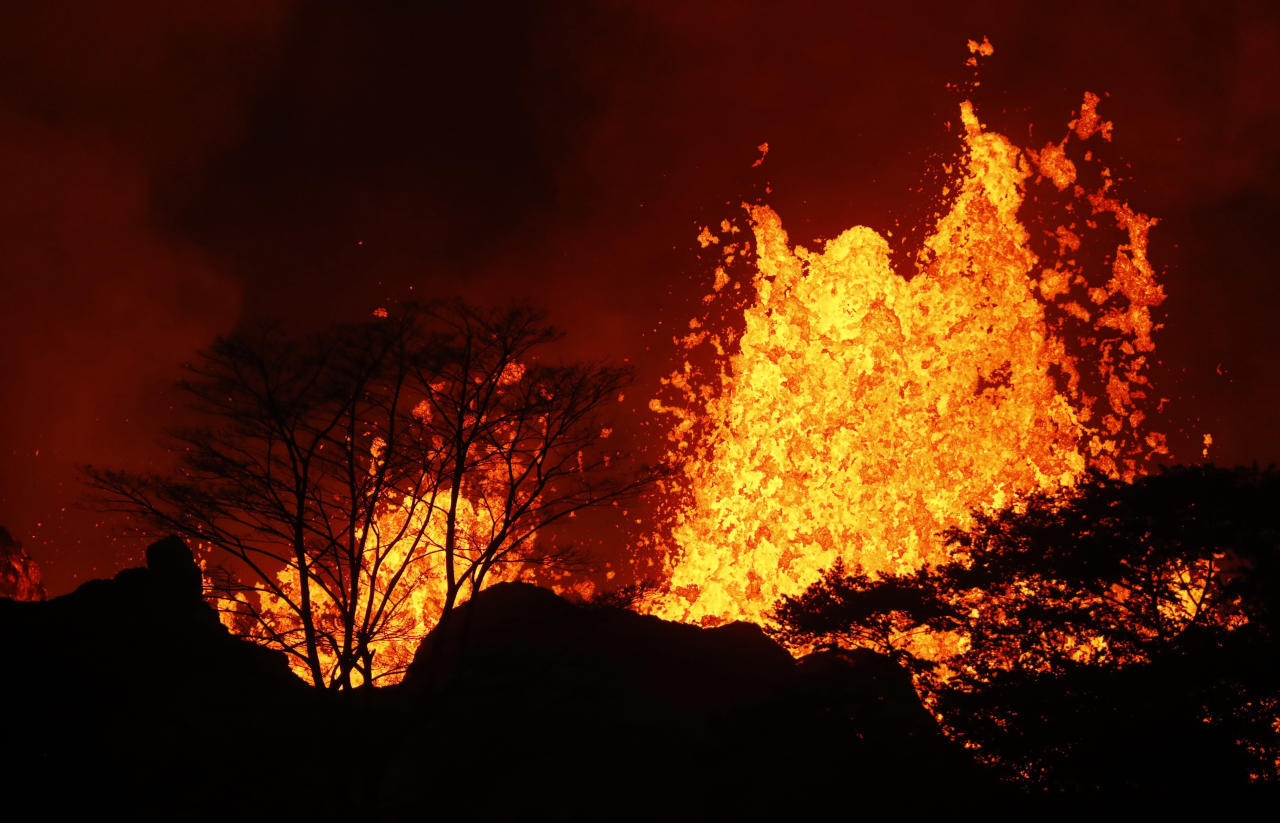 Lava flows have grown more vigorous in past days
