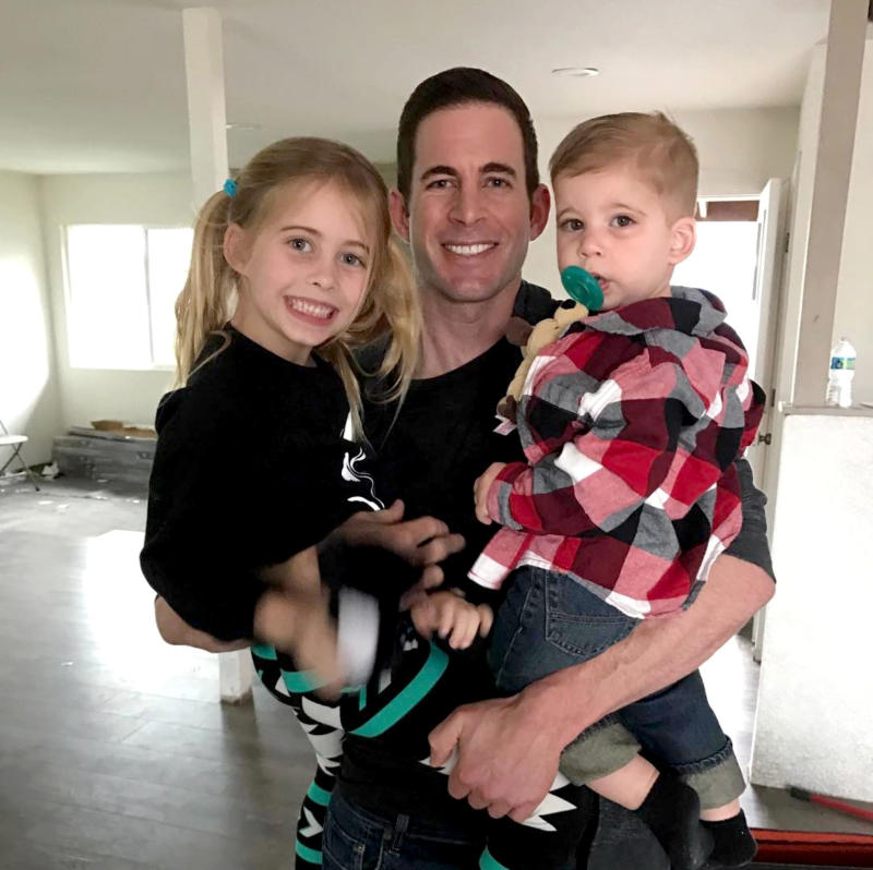 a3a874e431c340 Tarek El Moussa s Kids Join Him on Flip or Flop Set   I Love Creating  Memories on Camera Together