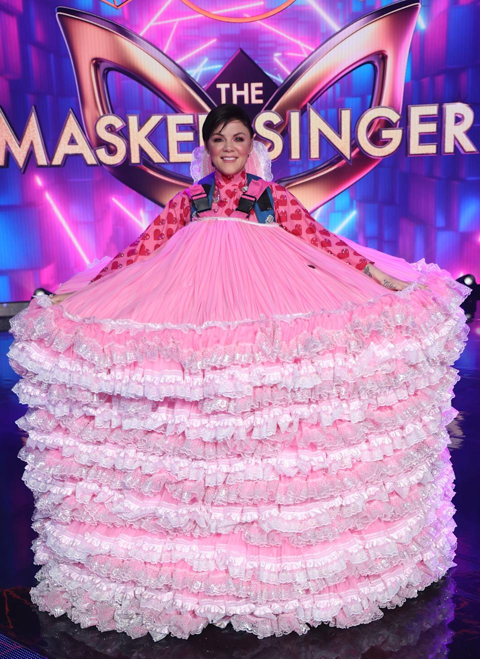 Em Rusciano on The Masked Singer.