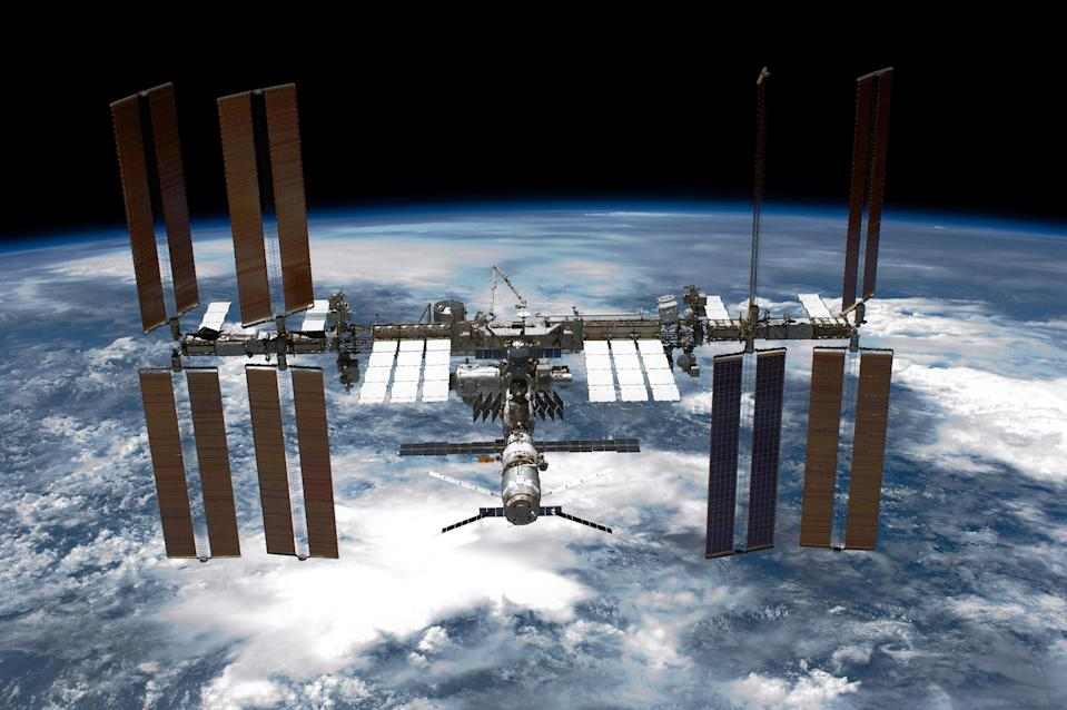 the ISS over Earth
