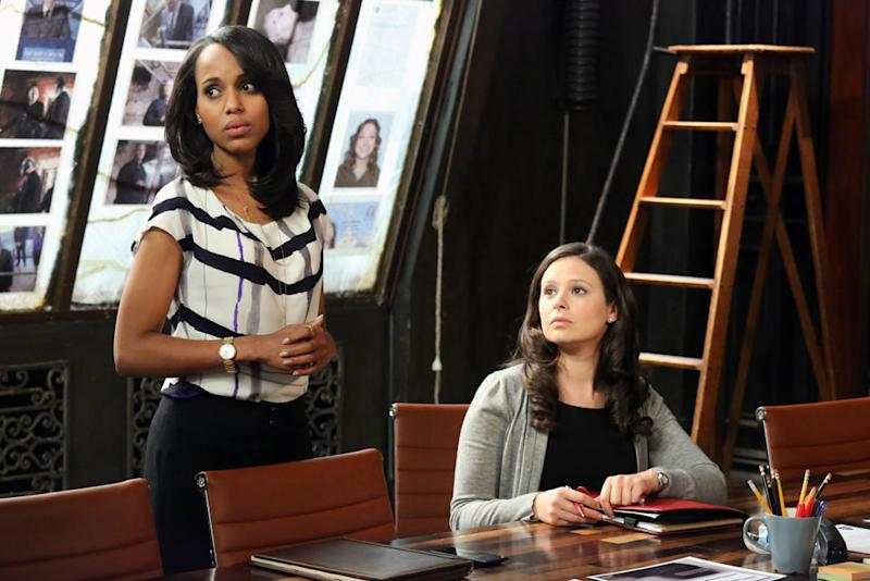 """Scandal"" -- ""Molly, You in Danger, Girl"" KERRY WASHINGTON, KATIE LOWES"