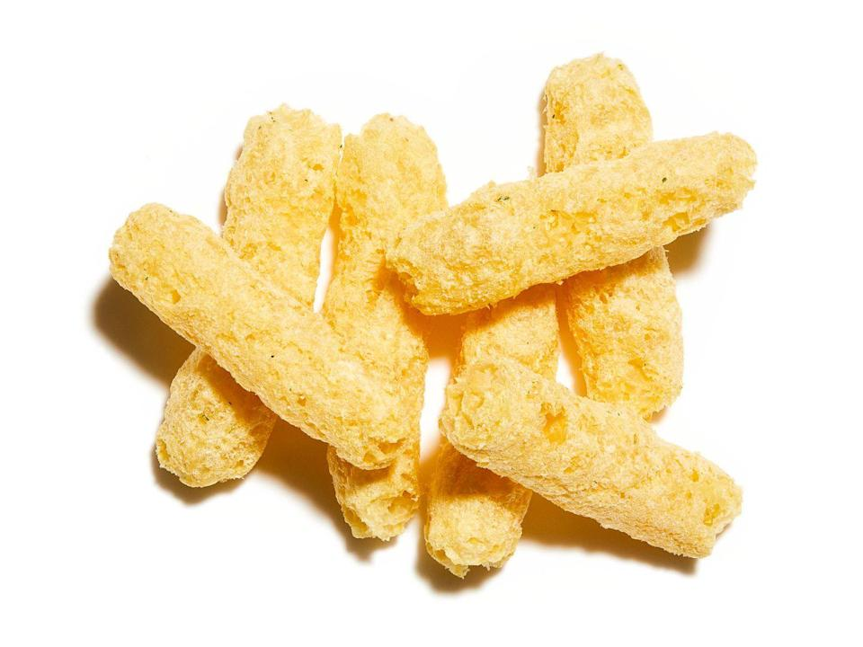 """<p>Sold as a healthier alternative to crisps, gramme for gramme their calorie count is just 10% lower. """"They're higher in fibre,"""" says Anyia. """"But because they're processed, most of the nutritional benefits of lentils will be lost.""""</p>"""