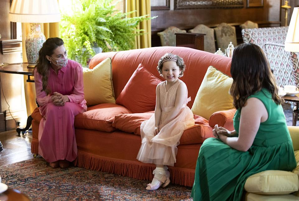 The Duchess of Cambridge met Mila Sneddon, aged five, at the Palace of Holyroodhouse in May (Jane Barlow/PA)