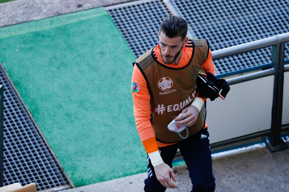 SEVILLE, SPAIN - JUNE 23: David de Gea of Spain is seen during the UEFA Euro 2020 Championship Group E match between Slovakia and Spain at Estadio La Cartuja on June 23, 2021 in Seville, Spain. (Photo by Joaquin Corchero / Europa Press Sports via Getty Images)