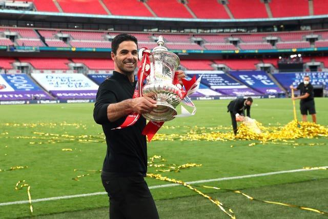 Mikel Arteta led Arsenal to the FA Cup less than eight months after his appointment.