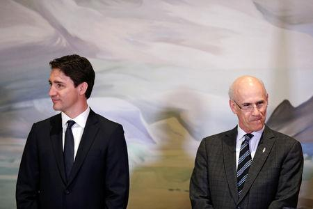 Canada's Prime Minister Justin Trudeau and Privy Council Clerk Michael Wernick attend a cabinet shuffle at Rideau Hall in Ottawa, Ontario, Canada, March 18, 2019. REUTERS/Chris Wattie
