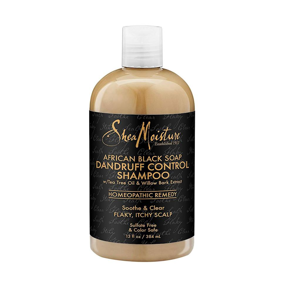 "<p>African black soap, tea tree oil, <a href=""https://www.instyle.com/hair/aloe-vera-for-hair"" target=""_blank"">aloe vera</a>, and willow bark extract help to moisturize a dry scalp and soothe itchy skin.</p>"