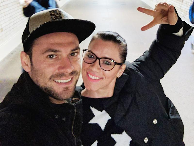 Andrei Burnaz with Andreea Cristea, from Romania, who has died after she was injured in the Westminster terror attack: PA wire