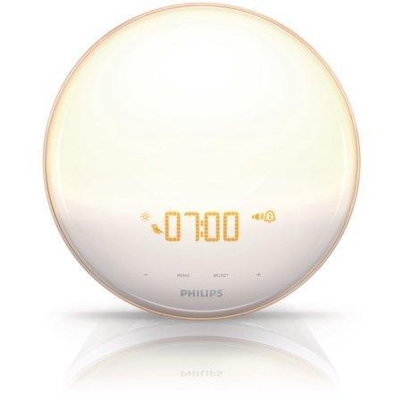 """<strong><h3><a href=""""https://www.walmart.com/ip/Philips-Wake-Up-Light-Alarm-Clock-with-Colored-Sunrise-Simulation-and-Sunset-Fading-Night-Light-White-HF3520-60/43924335"""" rel=""""nofollow noopener"""" target=""""_blank"""" data-ylk=""""slk:Philips Wake-Up Light Alarm Clock"""" class=""""link rapid-noclick-resp"""">Philips Wake-Up Light Alarm Clock</a></h3></strong><br>Philips' alarm clock combines a choice of five natural sounds or FM radio and 20 different brightness settings on soft, UV-free light with up to 300-lux illuminance — creating what reviewers describe as an entirely gentle wake-up experience.<br><br><strong>Philips</strong> Wake-up Light Alarm Clock, $, available at <a href=""""https://go.skimresources.com/?id=30283X879131&url=https%3A%2F%2Ffave.co%2F3mg1h4B"""" rel=""""nofollow noopener"""" target=""""_blank"""" data-ylk=""""slk:Walmart"""" class=""""link rapid-noclick-resp"""">Walmart</a>"""