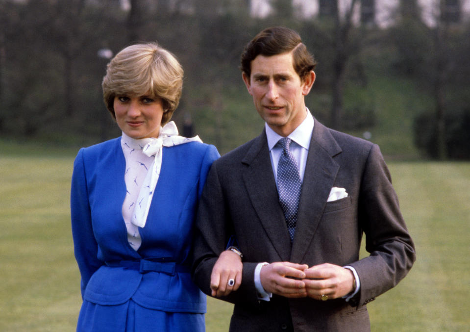 24/02/1981: On this day in 1981, Prince Charles and Lady Diana Spencer announce their engagement  PRINCE CHARLES AND LADY DIANA SPENCER AT BUCKINGHAM PALACE AFTER THE ANNOUNCEMENT OF THEIR ENGAGEMENT.  Picture by PA Court Photographer Ron Bell