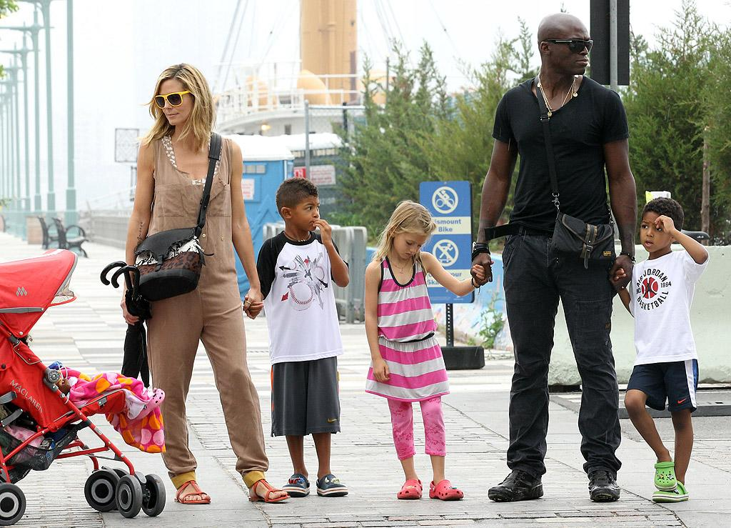 "<p class=""MsoNoSpacing"">Children are so important to Heidi Klum and Seal, the two actually began dating when she pregnant with now-8-year-old daughter Leni. Soon after the little girl's 2004 birth, the ""Kiss From a Rose"" singer adopted her. Seal and the ""Project Runway"" host went on to have three more of their own: Henry, almost 7, Johan, 5, and Lou, 2. Although the couple shocked the world when they split in January 2012 after nearly seven years of marriage, they seem dedicated to raising their children – albeit separately.</p>"