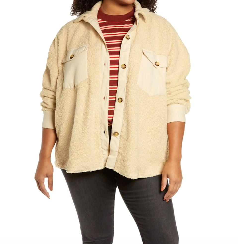 <p>Is it a jacket? Is it a shirt? This <span>Treasure &amp; Bond Teddy Bear Shirt Jacket</span> ($49) is a little bit of both - oh, and a wearable blanket.</p>