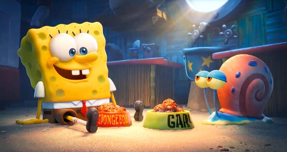 """<p><b>Paramount+'s Description:</b> """"SpongeBob SquarePants, his best friend Patrick, and the Bikini Bottom gang star in their most epic adventure movie yet! When SpongeBob's beloved pet snail Gary goes missing, a path of clues leads SpongeBob and Patrick to the powerful King Poseidon, who has Gary held captive in the Lost City of Atlantic City. On their mission to save Gary, SpongeBob and his pals team up for a heroic and hilarious journey where they discover nothing is stronger than the power of friendship.""""</p> <p><a href=""""https://www.paramountplus.com/movies/spongebob-movie-sponge-on-the-run/tQk_Qooh5wUlxQqzj_4LiBO2m4iMrcPD"""" class=""""link rapid-noclick-resp"""" rel=""""nofollow noopener"""" target=""""_blank"""" data-ylk=""""slk:Watch The SpongeBob Movie: Sponge on the Run on Paramount+ here!"""">Watch <strong>The SpongeBob Movie: Sponge on the Run</strong> on Paramount+ here!</a></p>"""