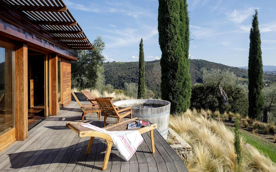 The new Spa Suite at Tuscany's Castello di Vicarello offers utter seclusion and gobsmackingly beautiful views