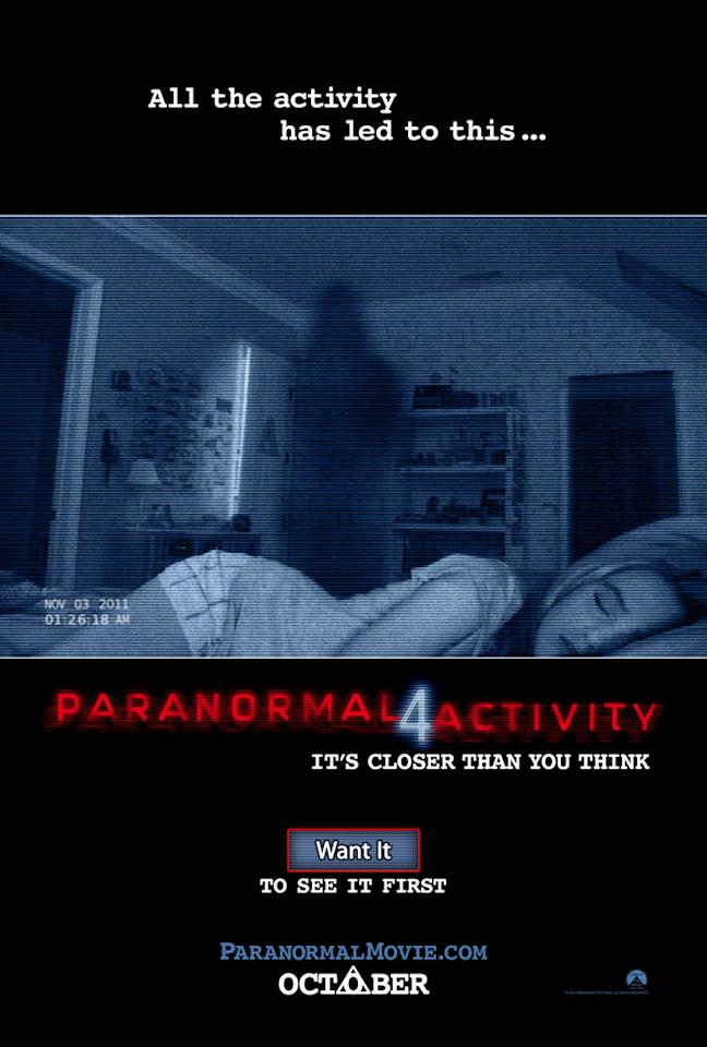 """Paramount Pictures' """"Paranormal Activity 4"""" - 2012"""