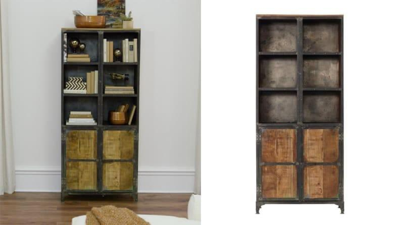 What's not to love about this rustic industrial shelf?