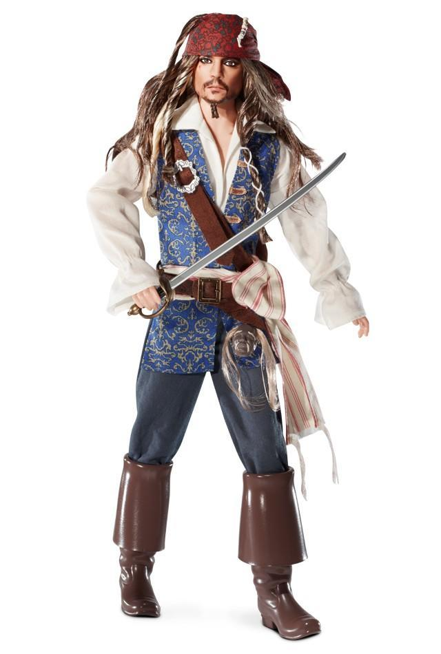 "<div class=""caption-credit""> Photo by: barbiecollector.com</div><b>Captain Jack Sparrow doll, released in 2011 for $34.95</b> <br> We're not sure if Ken got an extreme makeover, or if they actually shrunk down Johnny Depp into a minature pirate. Wow, this is good!"