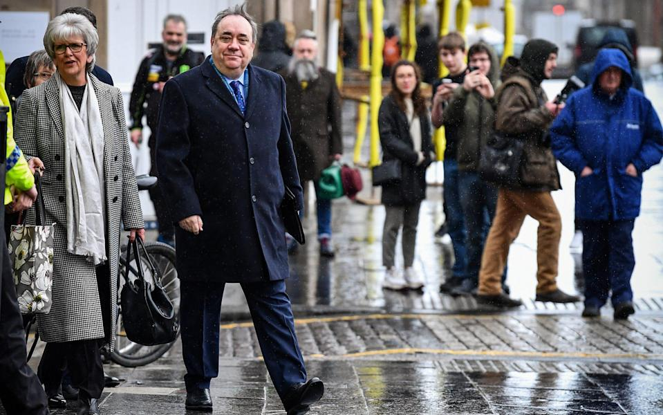 Alex Salmond at his trial in March, where he was cleared of all charges - Jeff J Mitchell/Getty Images Europe