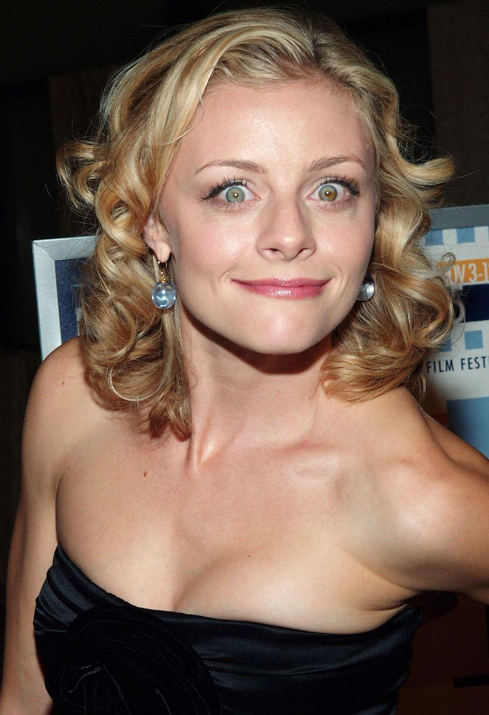 """<p>Cauffiel, best known for her role in <em><a href=""""https://www.amazon.com/Legally-Blonde-Reese-Witherspoon/dp/B000VCLGBY/ref=sr_1_1?keywords=legally+blonde&qid=1584979432&sr=8-1&tag=syn-yahoo-20&ascsubtag=%5Bartid%7C10055.g.2844%5Bsrc%7Cyahoo-us"""" rel=""""nofollow noopener"""" target=""""_blank"""" data-ylk=""""slk:Legally Blonde"""" class=""""link rapid-noclick-resp"""">Legally Blonde</a></em>, has one green eye and one green and brown eye.</p><p><strong>RELATED:</strong> <a href=""""https://www.goodhousekeeping.com/life/entertainment/g3243/best-romantic-comedy-movies/"""" rel=""""nofollow noopener"""" target=""""_blank"""" data-ylk=""""slk:The 60 Best Romantic Comedies of All Time to Stream Right Now"""" class=""""link rapid-noclick-resp"""">The 60 Best Romantic Comedies of All Time to Stream Right Now</a></p>"""