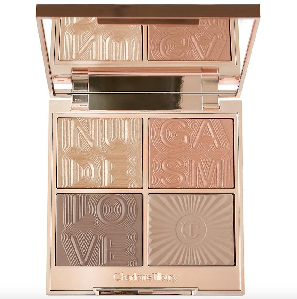 """<p>""""No one does contour and highlight quite like Charlotte Tilbury, and I know this four-powder <span> Charlotte Tilbury Super Nudes Nudegasm Bronze </span> ($75) palette will be my go-to this fall. I can't predict which powder I'll hit pan on first, but I already know that the Super Glow highlighter will look downright delicious on my skin, making it an early frontrunner for my most-used product this season."""" - Samantha Sasso, beauty editor, Branded Content</p>"""