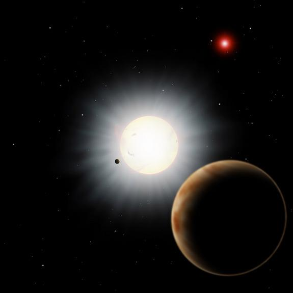 Strange Exoplanet's 'Backwards' Orbit Explained by Extra Star, Planet
